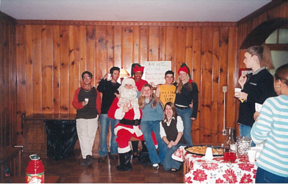 FRC Christmas Party in the early 2000s in old Rutherford
