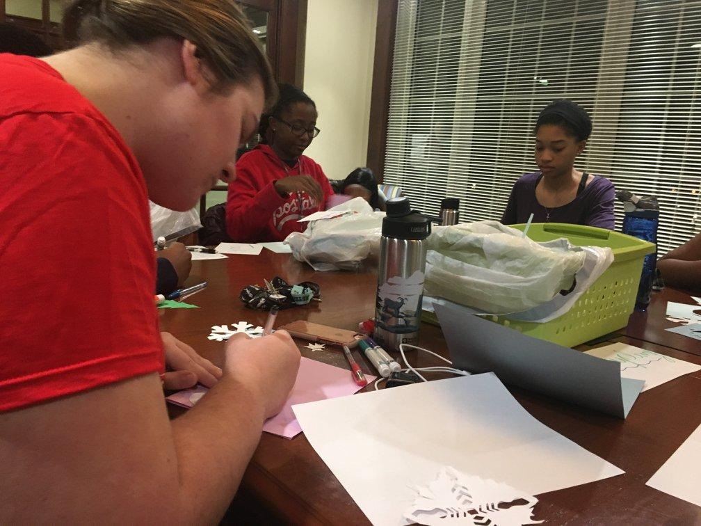 Christmas Card Making Service Event