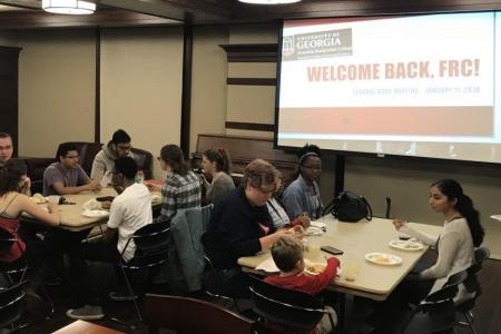 January 2018 FRC Welcome event in Rutherford Hall