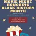 Black History Month Movie Night poster